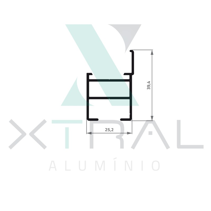 XTL-966 - (XS-090) - PESO LINEAR: 0,453kg/m