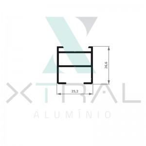 XTL-968 - (XS-091) - PESO LINEAR: 0,401kg/m